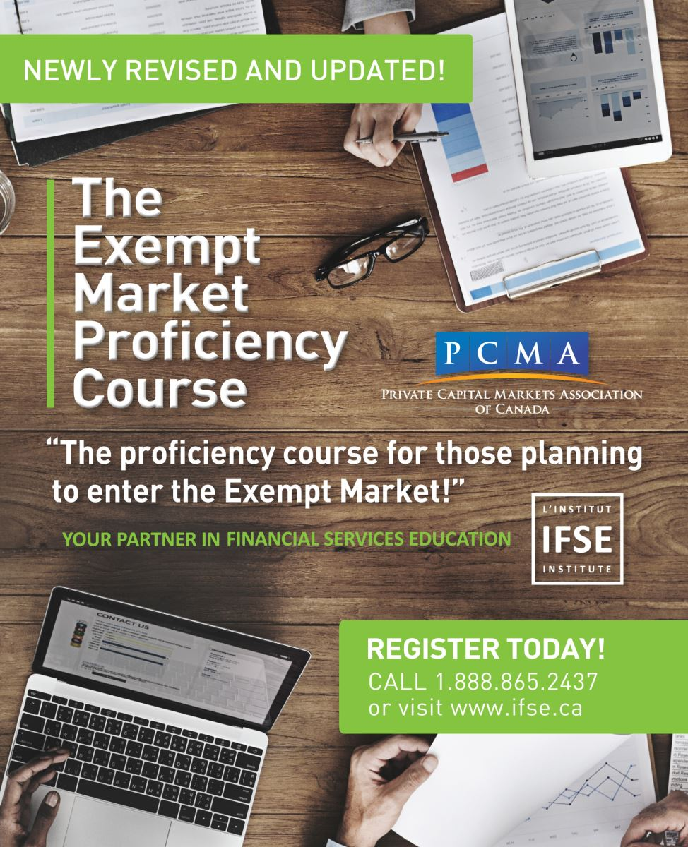 Check out the redesigned Exempt Market Proficiency Course