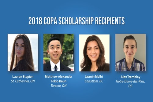 Cream of the crop: get to know the recipients of the 2018 COPA Scholarship Fund
