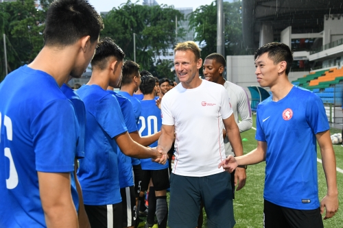 AIA Singapore sponsors youth team's training with football legend