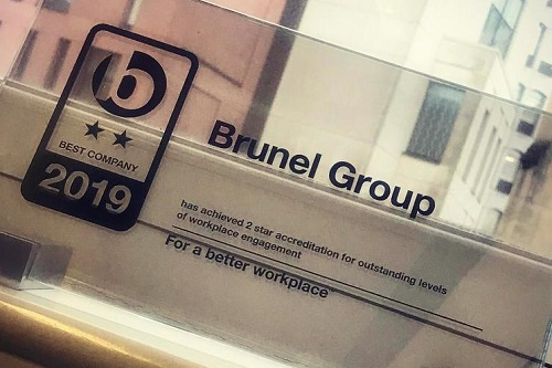 Brunel Group recognised for its workplace engagement