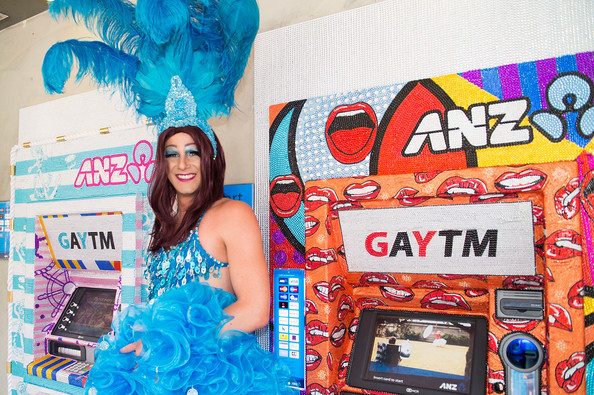 Big bank: the only 'GAY-TM' in the village