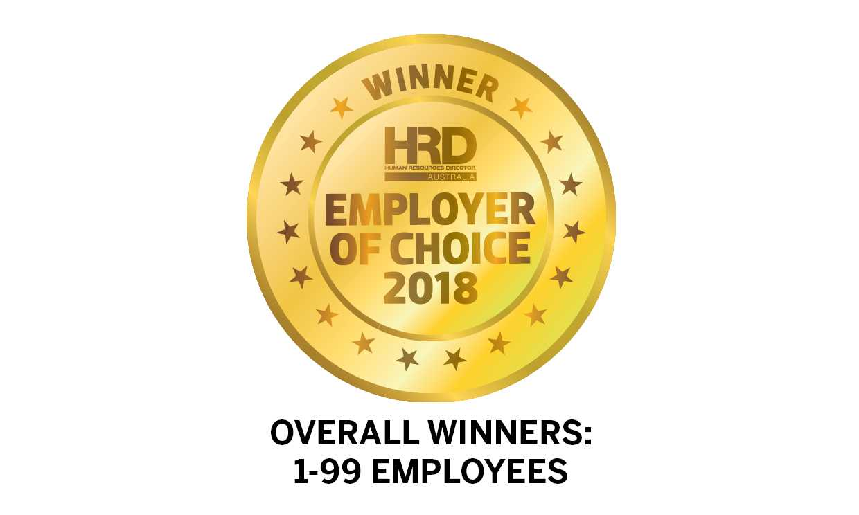 Overall Winners: 1-99 Employees