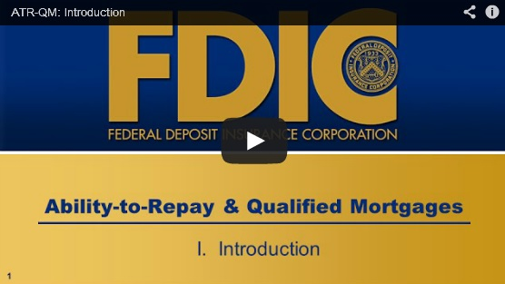 FDIC break downs ability-to-repay and qualified mortgage rule