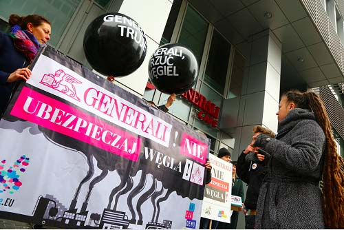Anti-coal petitioners hit out at Generali