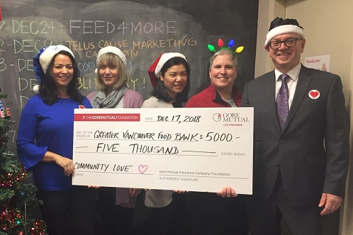 Gore Mutual donates to food banks across Canada