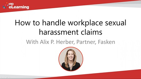 How to handle workplace sexual harassment claims
