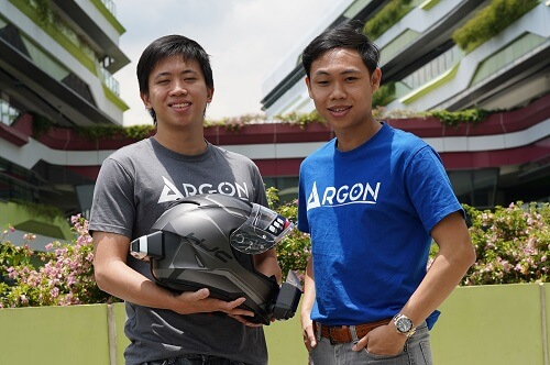 "Young Singaporean inventors create ""smart"" motorbike helmet"