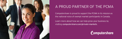 Computershare pledges support for PCMA