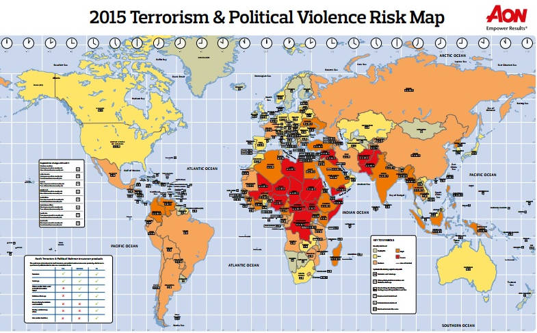 Aon Risk Solutions 2015 Terrorism & Political Violence Risk Map