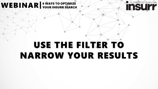 Use the Filter to Narrow Your Results