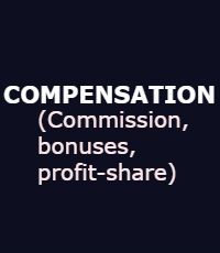 COMPENSATION (Commission, Bonuses, Profit-share)