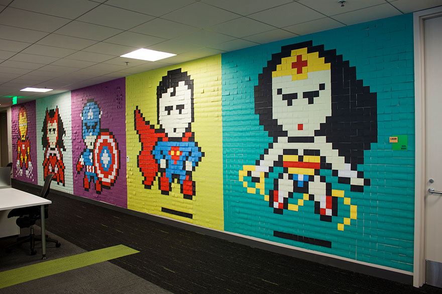 Lighter Side: 8,000 Post-It notes and an incredible office make-over